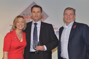 Ian Gillies, receives Rattlerow's Investor in Training Award.
